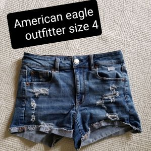 American eagle outfitter distressed jean shorts 4